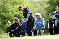 Lee Westwood watches his ball after chipping in on the 4th hole during the third round of the Irish Open on 19th of May 2007 at the Adare Manor Hotel & Golf Resort, Co. Limerick, Ireland. (Photo byEoin Clarke/NEWSFILE).
