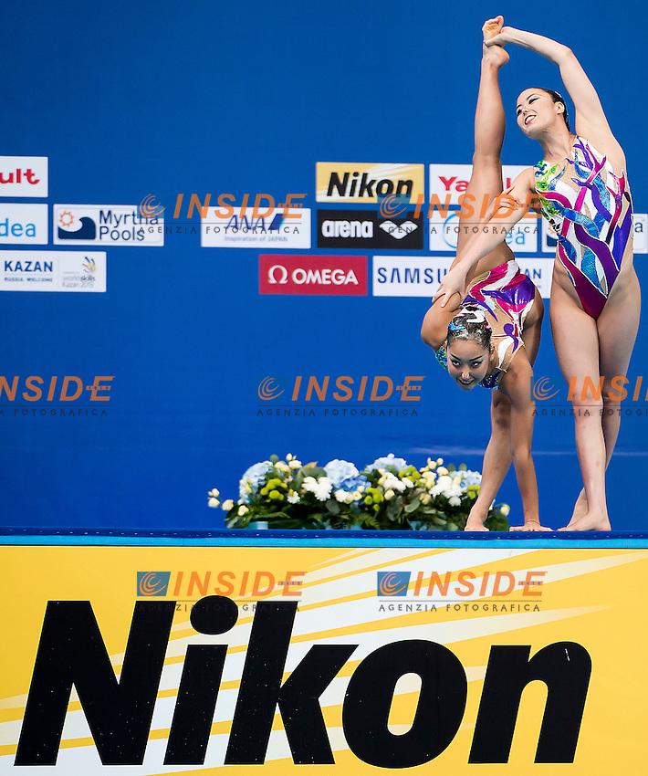 INUI Yukiko MITSUI Risako JPN<br /> Women's Duet Technical Preliminary Technical Routine - Kazan Arena<br /> Day03 25/07/2015<br /> XVI FINA World Championships Aquatics Swimming<br /> Kazan Tatarstan RUS July 24 - Aug. 9 2015 <br /> Photo A.Masini/Deepbluemedia/Insidefoto