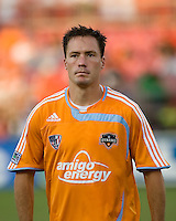 Houston Dynamo midfielder Richard Mulrooney. The Houston Dynamo tied the Columbus Crew 1-1 in a regular season MLS match at Robertson Stadium in Houston, TX on August 25, 2007.