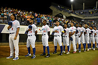 MONTERIA - COLOMBIA, 15-11-2019: Vaqueros de Montería y Toros de Sincelejo en el juego 2 de la serie 2 de la Liga Profesional de Béisbol Colombiano temporada 2019-2020 jugado en el estadio estadio Dieciocho de Junio de la ciudad de Montería. Victoria para Vaqueros por marcador de 4-2. / Vaqueros de Monteria and Toros de Sincelejo in match 2 series 2 as part Colombian Baseball Professional League season 2019-2020 played at Baseball Stadium on June 18 in Monteria city. Victory to Vaqueros by score of 4-2, Photo: VizzorImage / Andres Felipe Lopez / Cont