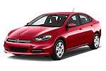 2015 Dodge Dart SE 4 Door Sedan Angular Front stock photos of front three quarter view