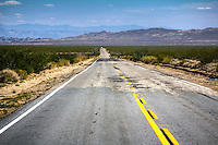 Route 66 near the Ghost Town of Goffs California.