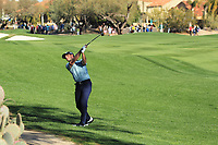 2nd February 2020, TPC Scottsdale, Arizona, USA;  Billy Horschel hits from the first fairway's rough when his second hole drive went wide left during the final round of the Waste Management Phoenix Open