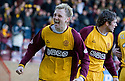 07/02/2009  Copyright Pic: James Stewart.File Name : sct_jspa19_motherwell_v_stmirren.STEPHEN HUGHES CELEBRATES AFTER HE SCORES THE EQUALISER.James Stewart Photo Agency 19 Carronlea Drive, Falkirk. FK2 8DN      Vat Reg No. 607 6932 25.Studio      : +44 (0)1324 611191 .Mobile      : +44 (0)7721 416997.E-mail  :  jim@jspa.co.uk.If you require further information then contact Jim Stewart on any of the numbers above.........