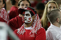 16 September 2006: A dejected fan during Stanford's 37-9 loss to Navy during the grand opening of the new Stanford Stadium in Stanford, CA.