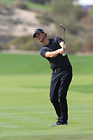 Thomas Pieters (BEL) on the 2nd during Round 4 of the Omega Dubai Desert Classic, Emirates Golf Club, Dubai,  United Arab Emirates. 27/01/2019<br /> Picture: Golffile | Thos Caffrey<br /> <br /> <br /> All photo usage must carry mandatory copyright credit (&copy; Golffile | Thos Caffrey)