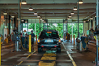 State auto inspection station, New Jersey, USA