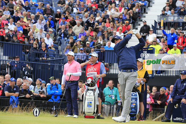 Gary WOODLAND (USA) tees off the 17th tee during Monday's Final Round of the 144th Open Championship, St Andrews Old Course, St Andrews, Fife, Scotland. 20/07/2015.<br /> Picture Eoin Clarke, www.golffile.ie