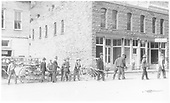 Rico Volunteer Fire Department members in front of the St. Louis Smelting and Refining Co.<br /> RGS  Rico, CO  1930-1933