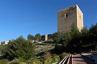 Fuente de las tres acequias im Castillo de Lorca,  Provinz Murcia, Spanien, Europa