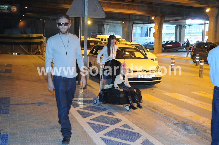 **ALL ROUND PICTURES FROM SOLARPIX.COM**.**WORDLWIDE SYNDICATION RIGHTS EXCEPT FOR SPAIN**NO PUBLICATION IN SPAIN**.Italian actress and model Monica Bellucci arrives at Malaga Airport with French film actor husband Vincent Cassel and 5 year old daughter Deva..JOB REF:    8766      PTB        DATE: 04.04.09.**MUST CREDIT SOLARPIX.COM OR DOUBLE FEE WILL BE CHARGED**.**ONLINE USAGE FEE GBP 50.00 PER PICTURE - NOTIFICATION OF USAGE TO PHOTO @ SOLARPIX.COM**.**CALL SOLARPIX : +34 952 811 768 or LOW RATE FROM UK 0844 617 7637**