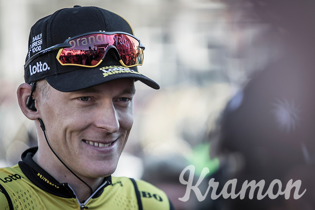 Robert Gesink (NED/Lotto NL - Jumbo) pre race. <br /> <br /> 53th Amstel Gold Race (1.UWT)<br /> 1 Day Race: Maastricht > Berg en Terblijt (263km)