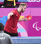 Curtis Caron competes in mens table tennis at the 2019 ParaPan American Games in Lima, Peru-23aug2019-Photo Scott Grant