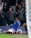 05.02.2020 Rangers v Hibs: Ianis Hagi celebrates his goal