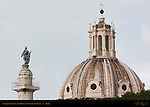 Santissimo Nome di Maria Dome Trajan's Column from Trajan's Forum Rome