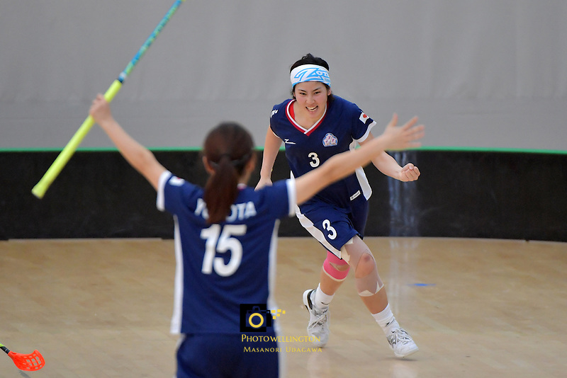 Japan's Yui Goto in action during the World Floorball Championships 2017 Qualification for Asia Oceania Region Final - Australia v Japan at ASB Sports Centre , Wellington, New Zealand on Sunday 5 February 2017.<br /> Photo by Masanori Udagawa<br /> www.photowellington.photoshelter.com.