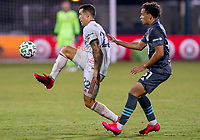 17th July 2020, Orlando, Florida, USA;  Real Salt Lake defender Aaron Herrera (22) makes a pass during the MLS Is Back Tournament between the Real Salt Lake versus Minnesota United FC on July 17, 2020 at the ESPN Wide World of Sports, Orlando FL.