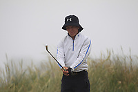 Robert Moran (Castle) on the 1st tee during Round 1 - Matchplay of the North of Ireland Championship at Royal Portrush Golf Club, Portrush, Co. Antrim on Wednesday 11th July 2018.<br /> Picture:  Thos Caffrey / Golffile