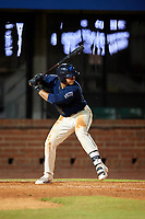 Mobile BayBears designated hitter Jose Briceno (35) at bat during a game against the Pensacola Blue Wahoos on April 25, 2017 at Hank Aaron Stadium in Mobile, Alabama.  Mobile defeated Pensacola 3-0.  (Mike Janes/Four Seam Images)