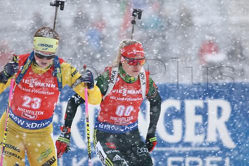 8th December 2017, Biathlon Centre, Hochfilzen, Austria; IBU Womens Biathlon World Cup; Mona Brorsson, Maren Hammerschmidt