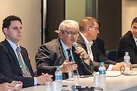 BELO HORIZONTE, MG, 06 JUNHO 2013 - TOUR DE EXPERIÊNCIA FIFA - MINEIRÃO - BELO HORIZONTE  - Delegados da FIFA realizam testes de experiência para a Copa das Confederações no estádio Mineirão em Belo Horizonte, na tarde desta quinta-feira 6. FOTO: NEREU JR / BRAZIL PHOTO PRESS).