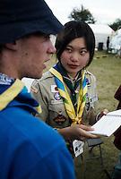 WSJ2007World Scout Jamboree 2007, mångkulturel interaktion, scoutskjortor, läger, folk