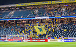 Solna 2014-10-12 Fotboll EM-kval , Sverige - Liechtenstein :  <br /> Sveriges supportrar och tomma stolar p&aring; l&auml;ktaren i Friends Arena under matchen mellan Sverige och Liechtenstein <br /> (Photo: Kenta J&ouml;nsson) Keywords:  Sweden Sverige Friends Arena EM Kval EM-kval UEFA Euro European 2016 Qualifying Group Grupp G Liechtenstein supporter fans publik supporters