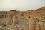A view of Herod's third palace by Wadi Qelt west of Jericho