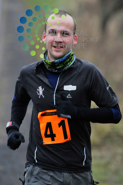 About one hundred competitors compete in the Winter Duathlon at Kirkliston, completing a 4 K run, 16 K bike, 4 K run event, Edinburgh Scotland, 14th January, 2012..Picture:Scott Taylor Universal News And Sport (Europe) .All pictures must be credited to www.universalnewsandsport.com. (Office)0844 884 51 22.