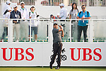 Arjun Atwal of India tees off the first hole during the 58th UBS Hong Kong Golf Open as part of the European Tour on 10 December 2016, at the Hong Kong Golf Club, Fanling, Hong Kong, China. Photo by Marcio Rodrigo Machado / Power Sport Images