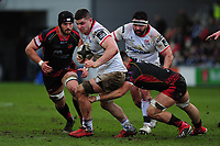 Pictured: Nick Timoney of Ulster in action during the Guinness Pro14 Round 17 match between the Dragons and Ulster Rugby at Rodney Parade, Newport, Wales, UK.<br /> Sunday 03 March 2019