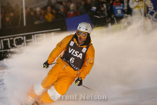 Trent Nelson  |  The Salt Lake Tribune.Guilbaut Colas, France, Moguls competition, Freestyle FIS World Cup at Deer Valley Saturday, January 16, 2010.