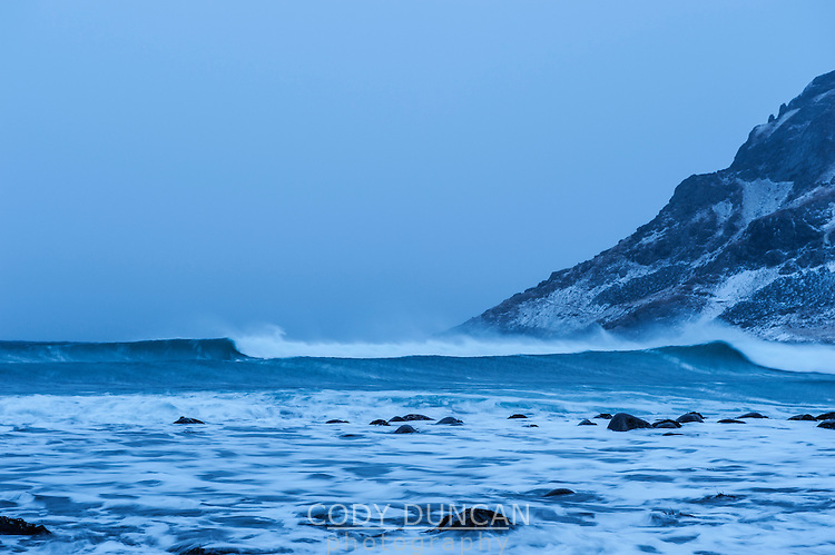 Unstad beach, Vestvagoy, Lofoten Islands, Norway