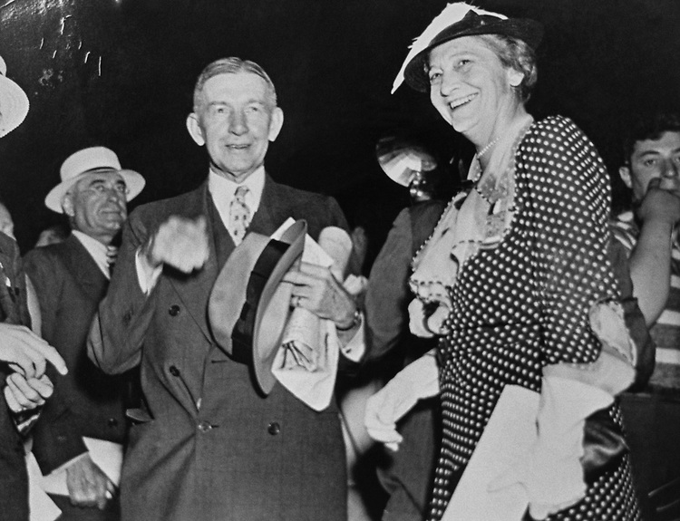 Former Vice President Charles G. Dawes and former Ruth Hanna McCormick, R-Ill., enter Republican Convention Auditorium in Cleveland, Ohio, on June 9, 1936. Photo from the Libaray of Congress. (Photo by CQ Roll Call via Getty Images)
