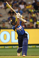 1st November 2019; Melbourne Cricket Ground, Melbourne, Victoria, Australia; International T20 Cricket, Australia versus Sri Lanka; Oshada Fernando of Sri Lanka plays the ball through the off side - Editorial Use