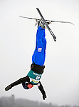 16 January 2009: Christopher Lambert from Switzerland performs aerial acrobatics during the FIS Freestyle World Cup warm-ups at the Olympic Ski Jumping Facility in Lake Placid, NY, USA. Mandatory Photo Credit: Ed Wolfstein Photo. Contact: Ed Wolfstein, Burlington, Vermont, USA. Telephone 802-864-8334. e-mail: ed@wolfstein.net