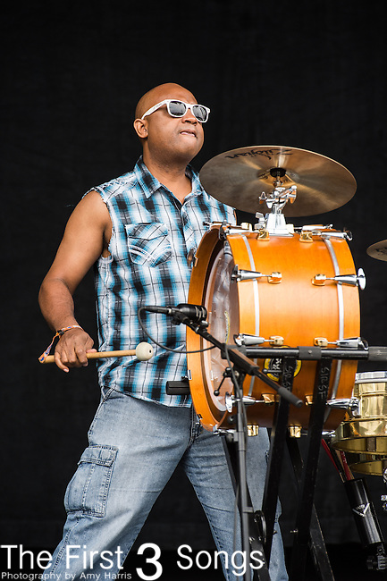 """Derrick """"Oops"""" Moss of The Soul Rebels performs at the Outside Lands Music & Art Festival at Golden Gate Park in San Francisco, California."""