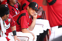 Nashville Sounds pitcher Mark Rogers #37 before a game against the Omaha Storm Chasers at Greer Stadium on April 25, 2011 in Nashville, Tennessee.  Omaha defeated Nashville 2-1.  Photo By Mike Janes/Four Seam Images