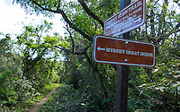 Trail to Murphy Great House sign<br />
