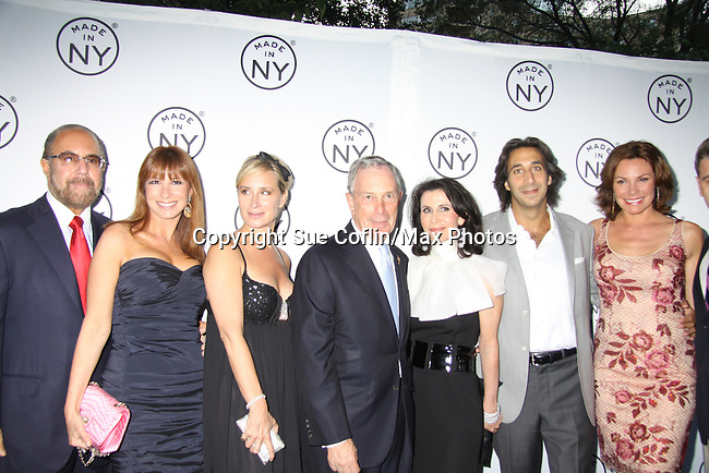 "Mayor Michael Bloomberg along with Commissioner Katherine pose with Real Housewives of NY - Jill Zarin hubby Bobby, Sonja Morgan, and Countess LuAnn de Lessups and Jacques Azoulay at the 6th Annual ""Made in NY"" Awards hosted by 2011 Mayor Michael Bloomberg and Commissioned Katherine Oliver on June 6, 2011 at Gracie Mansion, New York City, New York. (Photo by Sue Coflin/Max Photos)"