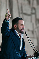 The closing of the campaign of the VOX party, on Sunday the 28th are the general elections, at Plaza de Colon in Madrid on April 26, 2019.<br /> President of VOX, Santiago Abascal