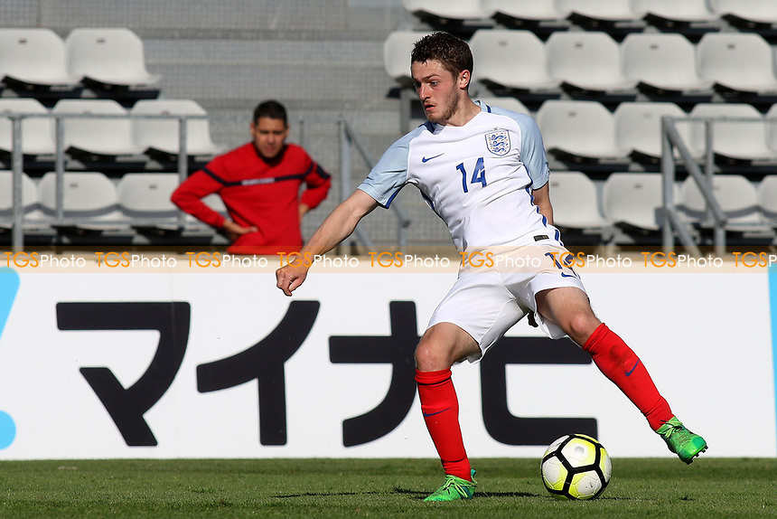 Elliott Embleton of England in action during England Under-18 vs Scotland Under-20, Toulon Tournament Semi-Final Football at Stade Parsemain on 8th June 2017