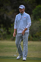 Brice Garnett (USA) watches his putt on 10 during Round 2 of the Valero Texas Open, AT&amp;T Oaks Course, TPC San Antonio, San Antonio, Texas, USA. 4/20/2018.<br /> Picture: Golffile | Ken Murray<br /> <br /> <br /> All photo usage must carry mandatory copyright credit (&copy; Golffile | Ken Murray)