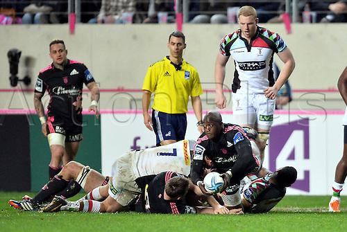 04.04.2014. Paris, France. Amlin Challenge Cup Rugby. Stade Francais versus Harlequins.  Djibril Camara (sf)
