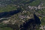Place forte de Mont-Dauphin construite par Vauban &agrave; partir de 1693, inscrite en 2008 au Patrimoine mondial de l'UNESCO.  Vue en ULM<br /> Mont-Dauphin castle built by Vauban in 1693, on the Unesco list since 2008