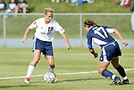 19 June 2004: Kristine Lilly (13) and Casey Zimny (17). The Washington Freedom tied the Boston Breakers 3-3 at the National Sports Center in Blaine, MN in Womens United Soccer Association soccer game featuring guest players from other teams.