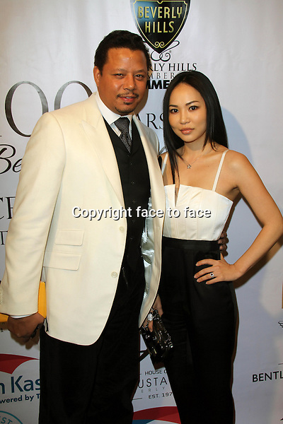 BEVERLY HILLS, CA - February 05: Terrence Howard at Experience East Meets West honoring Beverly Hills' momentous centennial year, Crustacean, Beverly Hills, February 05, 2014. Credit: Janice Ogata/MediaPunch Inc.<br />