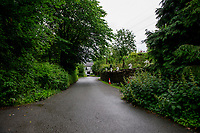Pictured: A general view of the Earlswood Cottages area, Neath, Wales, UK. Thursday 13 June 2019<br /> Re: A father and son are due to be sentenced for keeping a man as a slave for two years by Swansea Crown Court, Wales, UK.<br /> Anthony Howard Baker, 49, and his son Harvey Baker, 19, from Jersey Marine, near Neath, were also jointly charged with six counts of causing actual bodily harm.