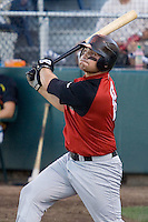 August 14, 2007: Catcher Tyler LaTorre of the Salem-Keizer Volcanoes batting during a Northwest League game against the Everett AquaSox at Everett Memorial Stadium in Everett, Washington.