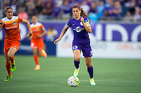 Orlando, Florida - Saturday, April 23, 2016: Orlando Pride forward Alex Morgan (13) dribbles the ball at speed <br />